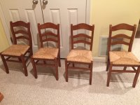 I Have 4 Ladder Back Rush Seat Child Size Chairs Purchased At Pottery Barn Kids Asking 50 For All Thank You