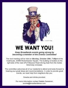 Oct 20 2104 meeting - Recruitment flyer
