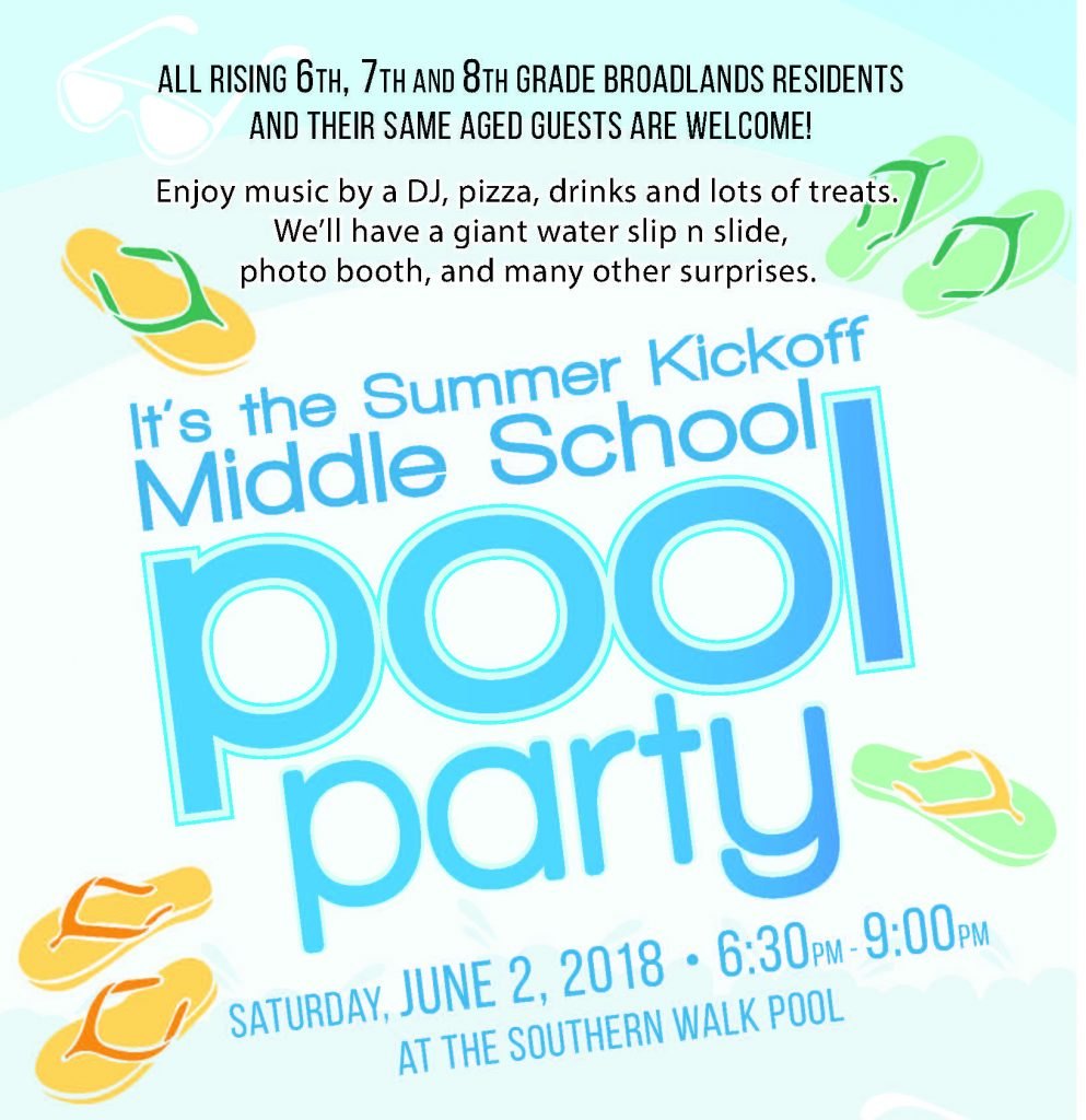 Middle School Pool Party @ Southern Walk Pool | Ashburn | Virginia | United States